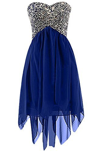 Royal Blue Homecoming Dress With Beading,Sweetheart Homecoming Dress,Custom Made Evening Dress