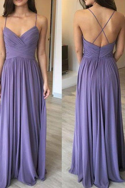 Newest Spaghetti Straps A-Line Prom Dresses,Long Prom Dresses,Cheap Prom Dresses, Evening Dress Prom Gowns, Formal Women Dress,Prom Dress