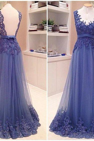 Purple Prom Dresses,Lace Prom Dresses,Backless Prom Dress,Long Prom Dress, 2016 Prom Dress
