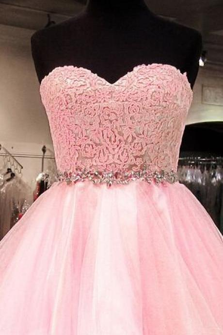 Charming Homecoming Dress Organza Homecoming Dress Lace Homecoming Dress Sweetheart Homecoming Dress